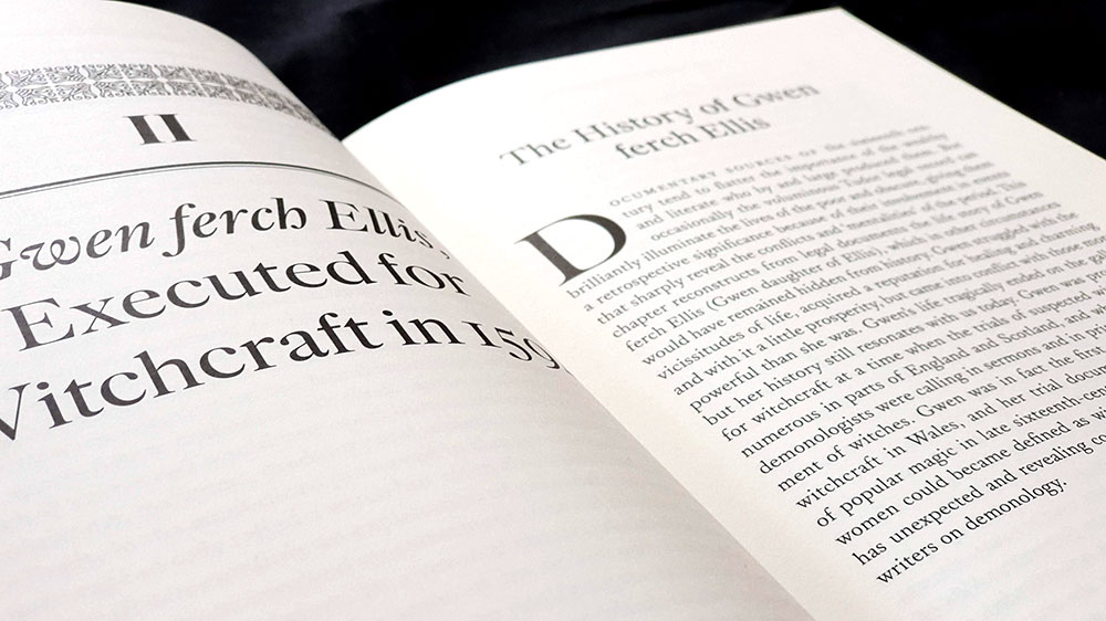 Verso and recto pages in spread, typesetting by Joseph Uccello