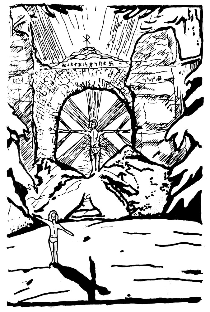 Rune=Magic illustration showing the high holy Grove of Light