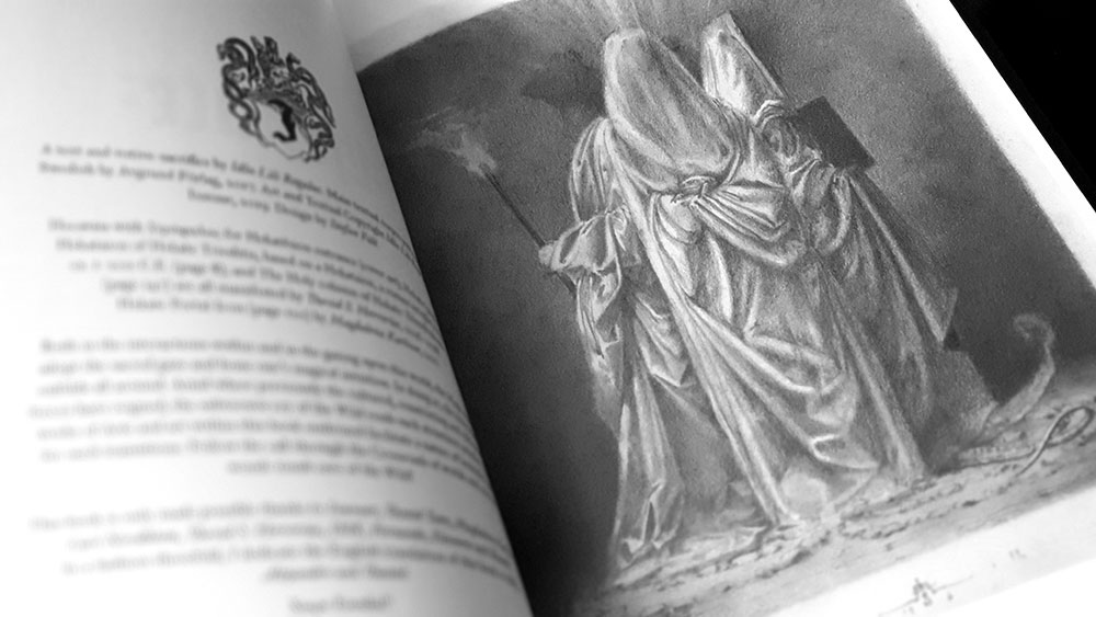 Hekate: The Crossroads' Dark Goddess inner page with Hekate image by David Herrerias