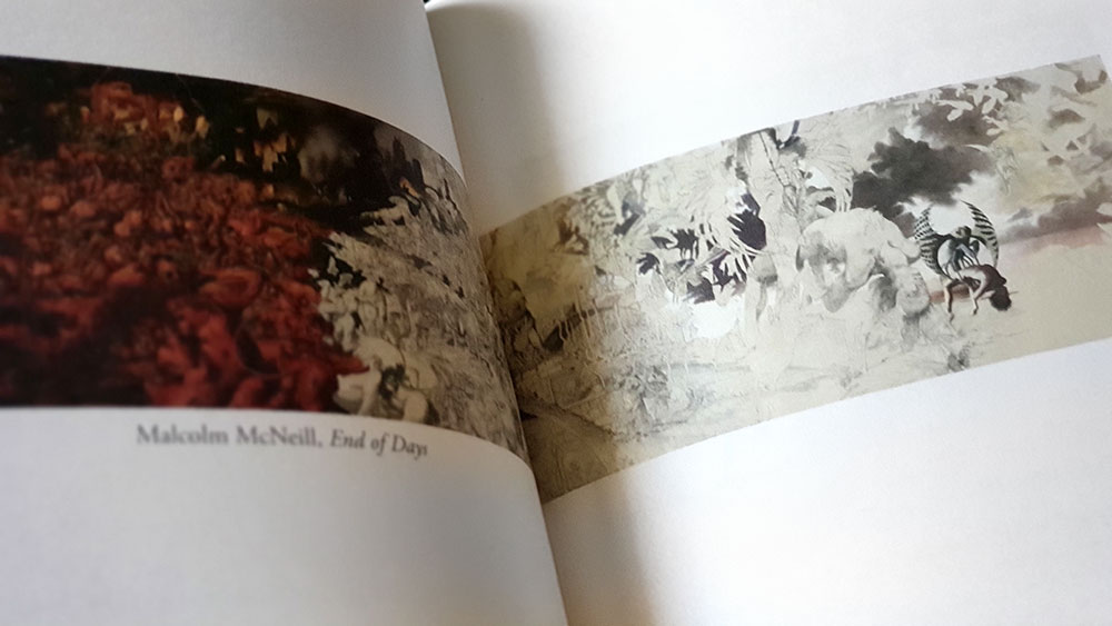The Fenris Wolf 9 spread with work by Malcolm McNeill
