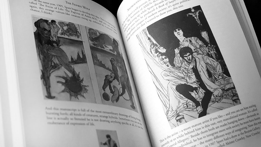 The Fenris Wolf 9 spread with work by Austin Osman Spare
