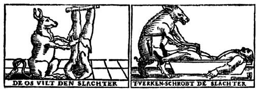 Dutch mundus inversus woodcuts