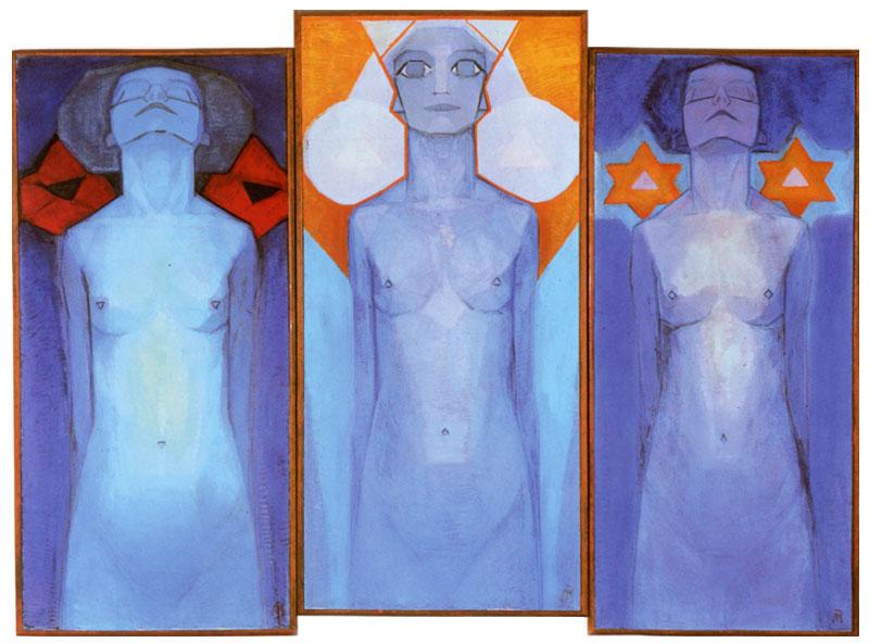 Piet Mondrian - Evolution, 1911