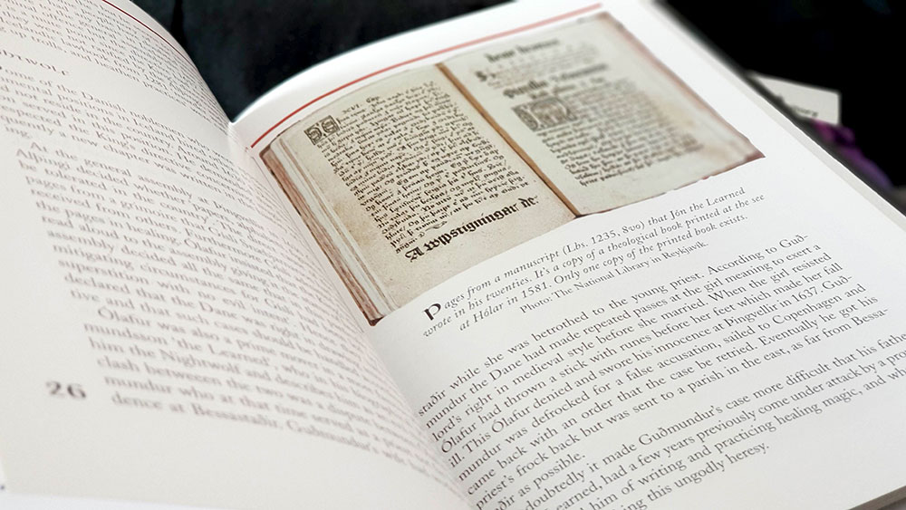 Spread including pages from Lbs. 1235, 8vo written by Jón Guðmundsson the Learned