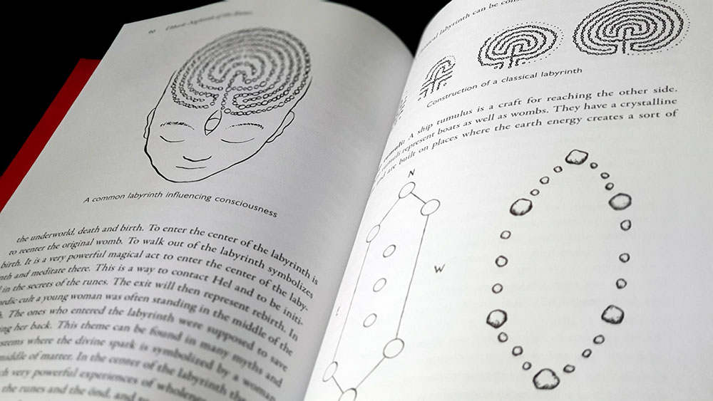 Nightside of the Runes spread with labyrinths and ship grave meditations