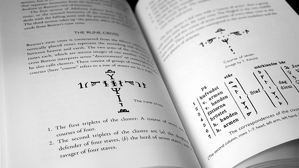 Nightside of the Runes spread with Bureus rune cross