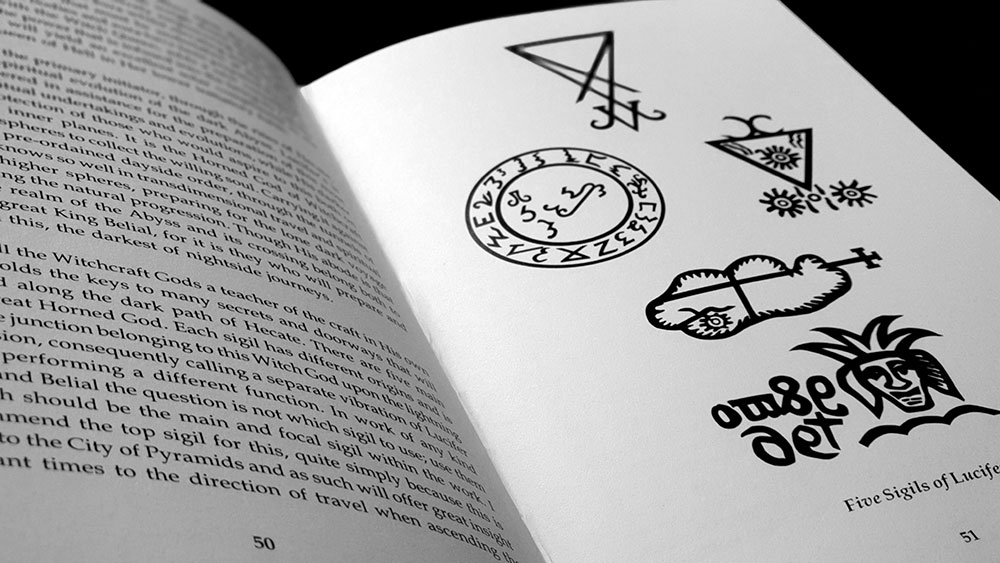 Queen of Hell spread with sigils of Lucifer
