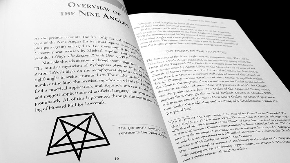 Infernal Geometry chapter title and nine angles overview