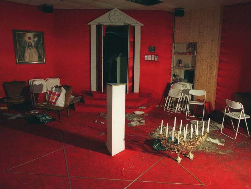 Order of the Solar Temple ritual chamber