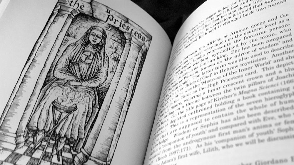 The Pillars of Tubal-Cain spread with tarot image by Nigel Jackson