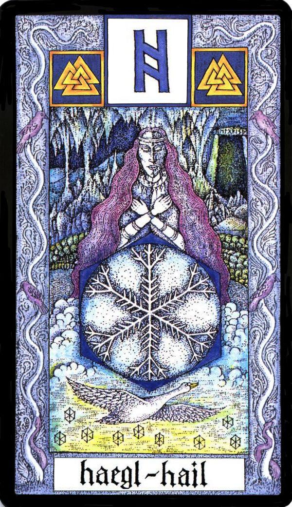 Haegl rune card design
