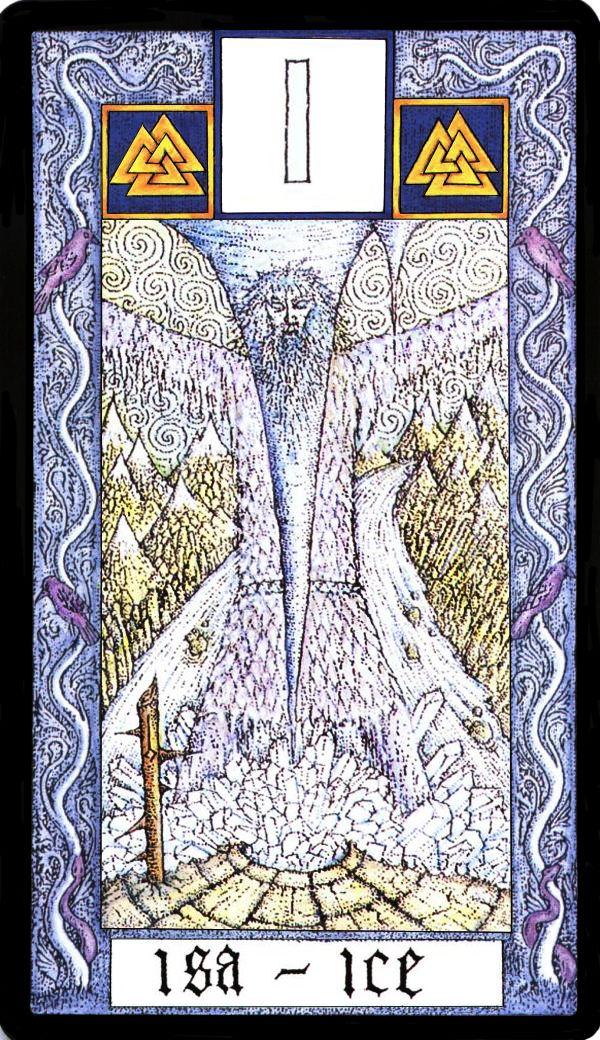 Isa rune card design